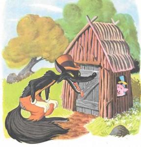 Los tres cerditos-el lobo sopla las casas